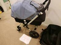 bugaboo cameleon 3 with petrol blue and ice blue colour packs price reduced