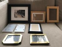 8 picture photo frames. Ikea & vintage shabby chic