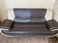 Leather Sofa 3 Seater & 2 Seater Faux Leather 6 Months Old Excellent Condition