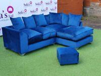 💜💗💜Brand New Dylan Premium Fabric 3+2 / Corner Sofa / Swivel Chair / Footstool