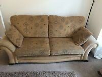 MUST GO!! Quality three piece Cousins sofa set with cushions