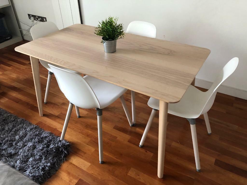 Ikea Table 4 Chairs Lisabo Leifarne In Salford Manchester