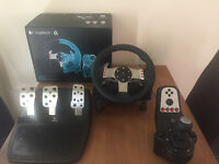 Logitech G27 Steering wheel, shifter and pedals with box