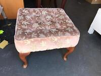Lovely queen ann leg stool, ideal upcycle project