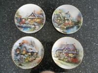 Royal Doulton Cottage Collection. Fine bone china wall plates.