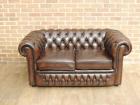 Chesterfield Club 2 seater Compact Sofa (UK Delivery)