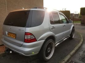 Silver Mercedes ML350 - Petrol and LPG with AMG Kit