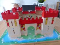 Buy Early for Christmas! - Wooden Medieval Castle Playset