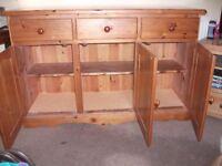 pine 3 draw cupboard
