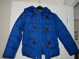 UNITED COLOURS OF BENETTON COAT SIZE 8-9 YEARS