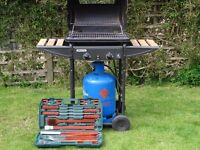 Homebase Gas Barbeque complete with gas bottle and new tools