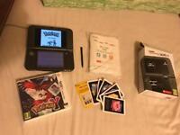 NEW Nintendo 3DS XL in black + Pokemon Y