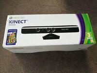 Brand new Xbox 360 Kinect Sensor + game