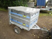 DBD DOUBLE HEIGHT GOODS TRAILER WITH DROPTAIL & COVER........