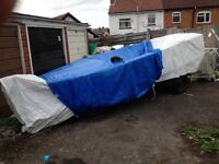 Trailer And Boat £600 Project Boat And Mint Trailer