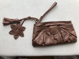 Ted Baker leather wristlet