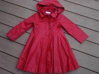 Debenhams girls Wax style Coat/Mac age 6yrs in superb condition.