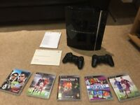 PS3 (games & bluray dvd player) + 2 controllers + Fifa15/16 + SingIt + Minecraft3 - £60