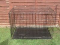 DOG CAGE XX LARGE WITH METAL TRAY £35