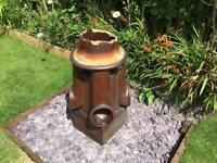 Victorian glazed large unusual chimney pot planter