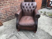 Thomas Lloyd chesterfield chair antique brown