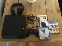 PlayStation 4 - Controller - Headset - 3 Games