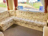 😀😀3 bed (sleeps 8) caravan for sale at sandy bay hol park on northumbeland, open 12 months😀😀