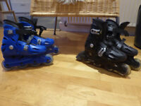 Roces Orlando III black/blue child inline skates. Adjustable size system. Buy as pair or separately