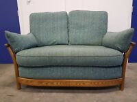 ERCOL RENAISSANCE 2 SEATER GOLDEN DAWN SOFA / SETTEE / SUITE FABRIC SOLID ASH DELIVERY AVAILABLE