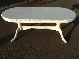 White painted table
