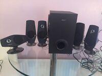 'Creative' surround/PC speaker system.