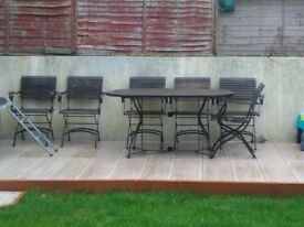Solid large table and chairs for sale