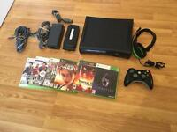 120gb XBOX 360 ELITE CONSOLE with 6 GAMES & GAMING HEADSET £40 no offers