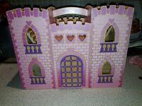 Pink foldaway castle