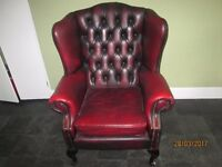 Chesterfield wing back chair.