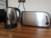 Stainless steal kettle and toaster