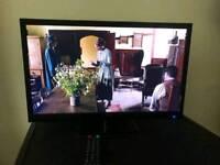 "24"" TV 1080p 2 x HDMI REMOTE CABLES ACCESSORIES BOXED LIKE NEW"