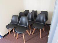 set of 8 retro chairs