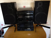 Trio (Kenwood) Sound system INCLUDING VINYL RECORD PLAYER DECK