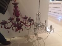 Two off chandelier lights