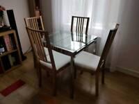 Ikea Glivarp extendable table & 4 chairs