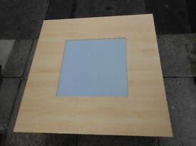 Argos Beech Effect Glass Top table