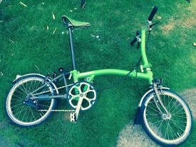 Brompton Bike SL2-x Apple Green 2013 (Mint 54 Miles from new)