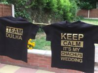 T-Shirts Printing Service - Birthday, Weddings, Hen, Stag, Parties, Shaadi - High Quality