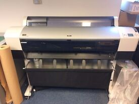 Epson 9880 large format printer with RIP, immaculate condition, extra ink cartridges, parts, media