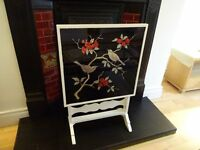 Vintage Japanese Style Fire Screen/Side Table
