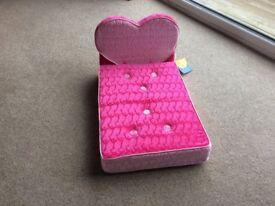 Build-a-Bear Plush Heart Bed