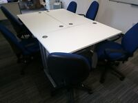 BARGAIN: 7 x Office Desks & Chairs for collection - LIKE NEW - EDINBURGH EH6 5NP