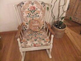 Lovely elm rocking chair