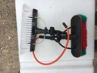 Water fed brush heads